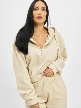 PEGADOR Hoodie Nicki Oversized Cropped Zipper beige
