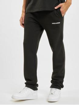 PEGADOR Jogging kalhoty Logo Wide čern