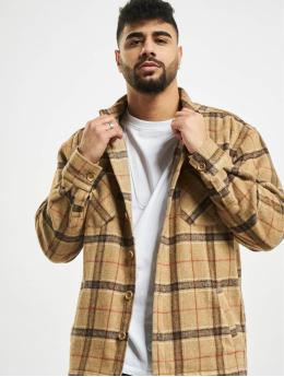 PEGADOR Košele Flato Heavy Wool Flannel hnedá