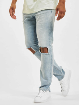 PEGADOR Skinny Jeans Purral Distressed Ankle niebieski