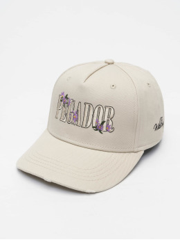 PEGADOR Snapback Cap Embroidery Destroyed beige