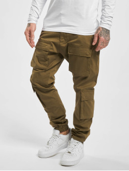 PEGADOR Spodnie Chino/Cargo Lyon oliwkowy