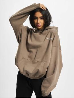 PEGADOR Sweat capuche Clarita Logo Oversized brun