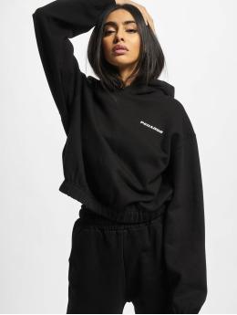 PEGADOR Sweat capuche Kim Oversized Cropped noir