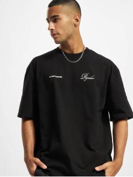 PEGADOR T-Shirt Written History Oversized noir
