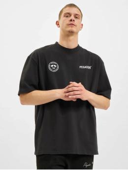 PEGADOR T-shirt Mike Oversized Vintage  svart