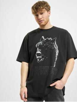 PEGADOR t-shirt Oregon Oversized Washed  zwart