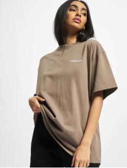 PEGADOR T-Shirty Beverly Logo Oversized brazowy