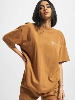 PEGADOR T-Shirty Ripple Oversized brazowy