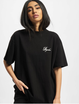PEGADOR T-Shirty Ripple Oversized czarny