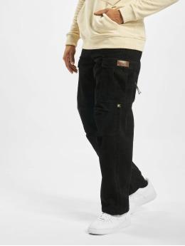 Pelle Pelle Pantalon cargo Corduroy noir