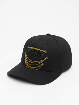 Pelle Pelle Snapback Cap Chained Icon Curved nero