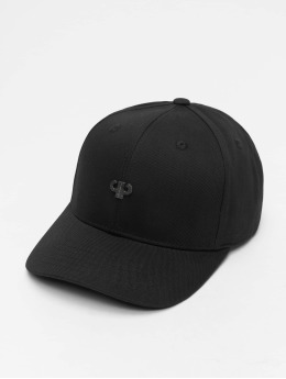 Pelle Pelle Snapback Caps Icon Plate Curved čern