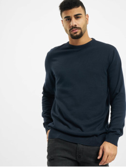 Petrol Industries Pulóvre R-Neck Knit  modrá