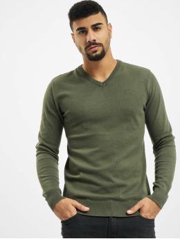 Petrol Industries Swetry V-Neck Knit  zielony