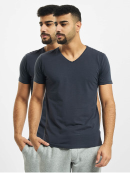 Petrol Industries T-Shirt Basic V-Neck 2-Pack blue