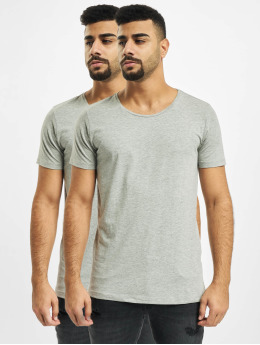Petrol Industries T-Shirt Basic R-Neck 2-Pack grau