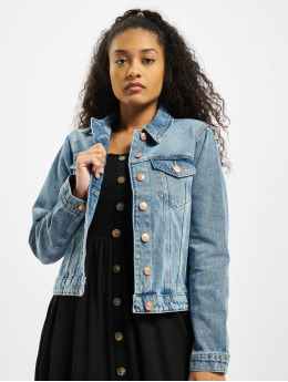 Pieces Denim Jacket pcLou Denim blue