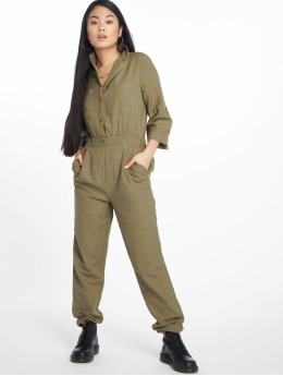 Pieces Jumpsuits pcAnn 3/4 zielony