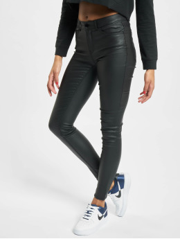 Pieces Leggings/Treggings pcFive Paro Medium Waist Coated Noos czarny