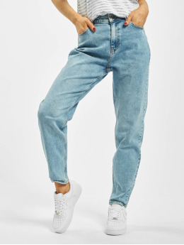 Pieces Mom Jeans pcKesia blå