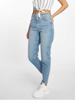 Pieces Mom Jeans pcMom Leah Hw blau
