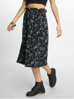 Pieces pcSevi Midi Skirt Black/Purple Flower