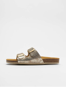 Pieces Sandals pcCoco Suede gold colored