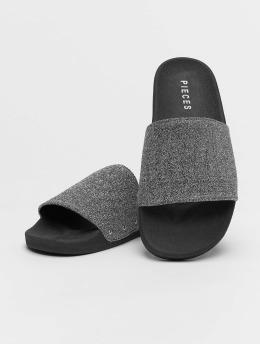 Pieces Sandals pcChica  silver colored