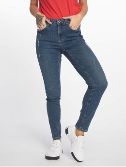 Pieces Skinny jeans pcBree Destroyed blauw