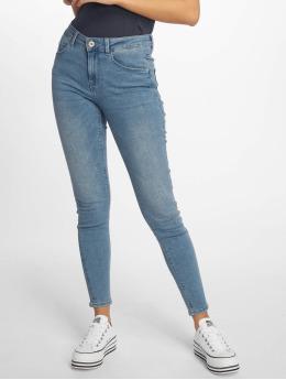 Pieces Skinny jeans pcBree Mid Waist Ankle blauw