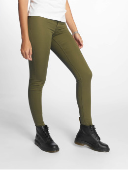 Pieces Skinny Jeans pcSage Shape Up Ultra Mid Waist olive