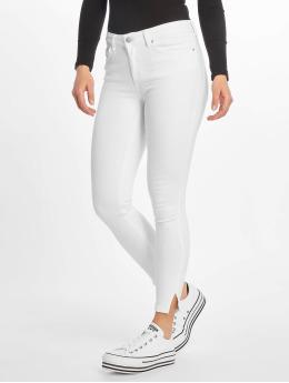 Pieces Skinny Jeans pcDelly Crop Slit Mw white