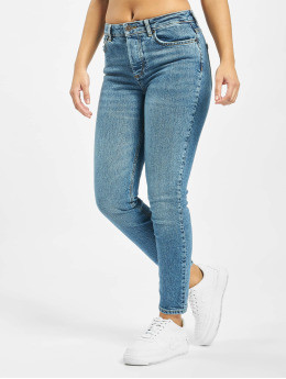 Pieces Slim Fit Jeans pcCara  blå