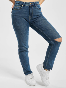 Pieces Slim Fit Jeans pcLili Slim Mid Waist Noos blå