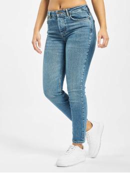 Pieces Slim Fit Jeans pcCara  blauw