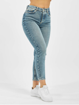 Pieces Slim Fit Jeans pcCara modrá