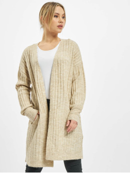 Pieces Strickjacke pcNew Sanni Noos Knit  beige