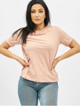 Pieces T-Shirt pcRia Fold Up Solid rosa