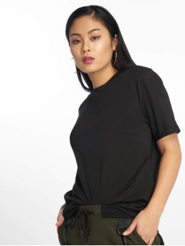 Pieces T-Shirt pcRia Fold Up schwarz