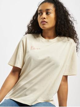 Pieces T-Shirty pcMikani Print bezowy