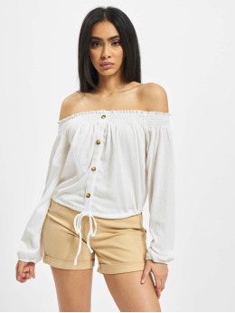 Pieces Tops pcAnnie Off-Shoulder  bialy