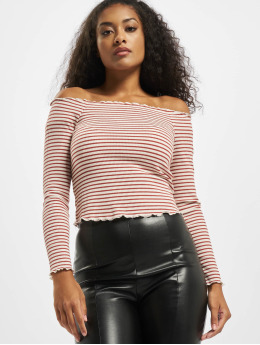 Pieces Tops pcAlicia Off-Shoulder czerwony