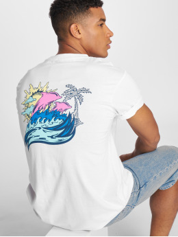 Pink Dolphin T-Shirt Roll Tide blanc