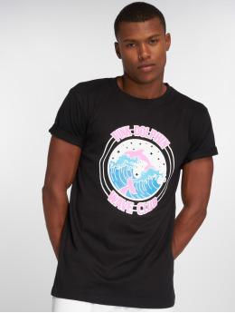 Pink Dolphin T-Shirt Club Crest schwarz