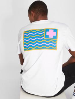 Pink Dolphin T-Shirt Dolphin Pocket P weiß