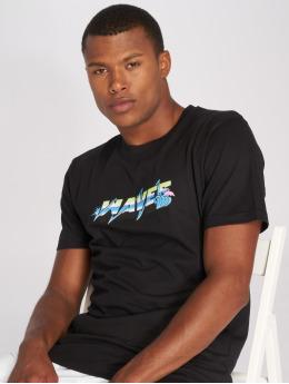 Pink Dolphin t-shirt Electric Waves zwart