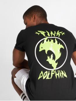 Pink Dolphin t-shirt Aqua Flame zwart