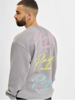 Playboy x DEF Pullover Play grau