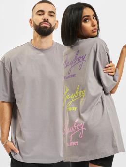 Playboy x DEF t-shirt Signature  grijs